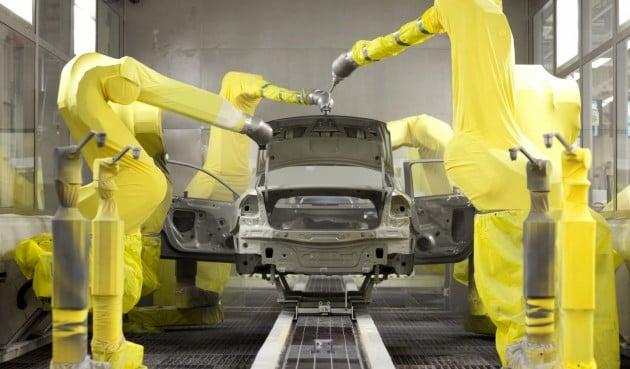 vw paint shop robots