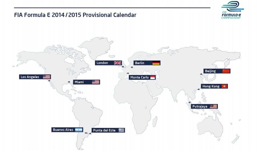 Formula E announces 2014/2015 season calendar – Putrajaya is second race venue in October 2014 Image #201848