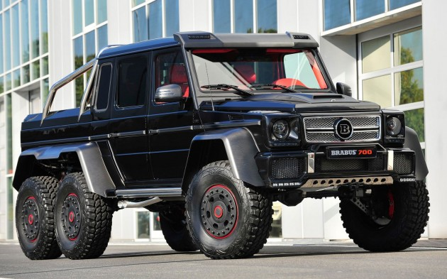 brabus b63s 700 6x6 the six wheeled black beastthe brabus b63s 700 6×6 is the tuner\u0027s take on the mercedes benz g63 amg 6×6, which merc describes as having \u201cthe last word in forward thrusting power far