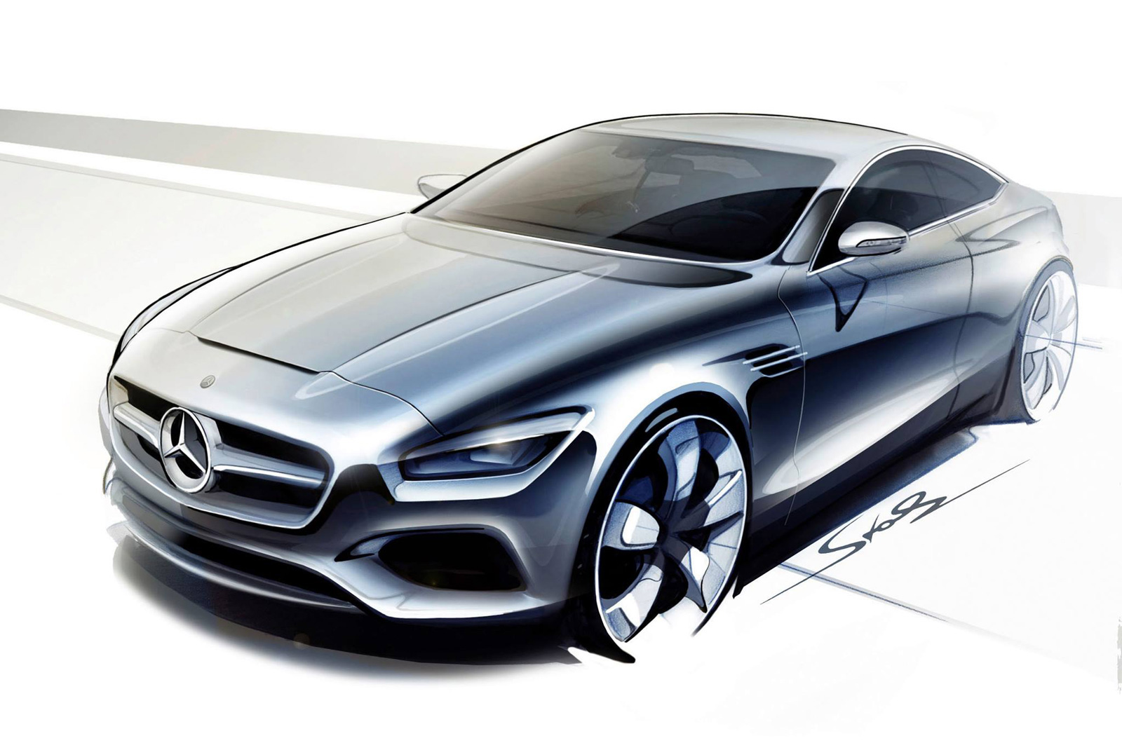 video mercedes concept s class coupe previewed. Black Bedroom Furniture Sets. Home Design Ideas