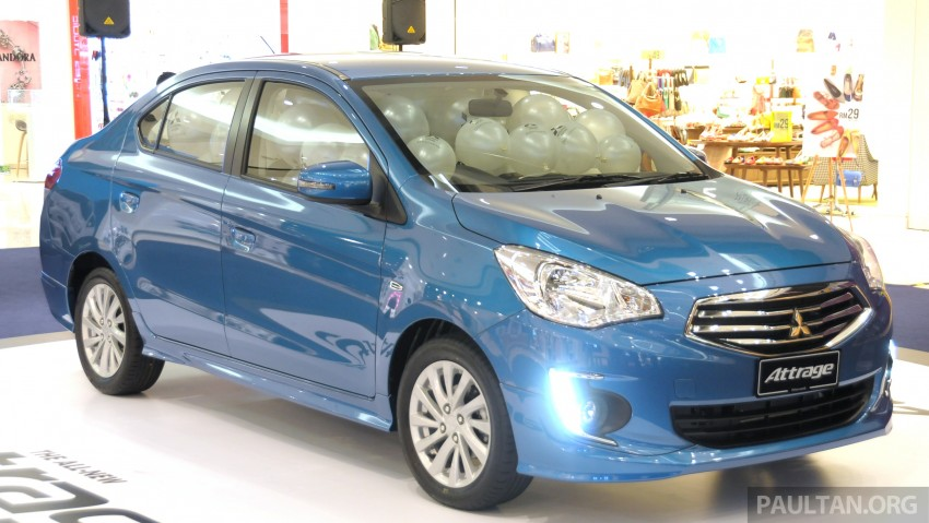 Mitsubishi Attrage – full Malaysian specs and prices Image #197406