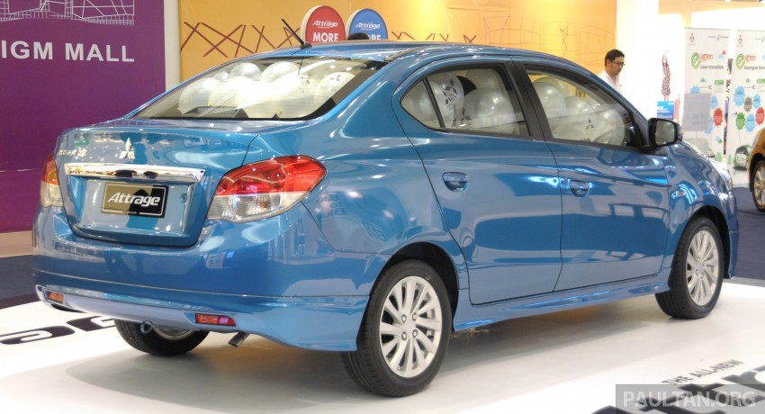 Mitsubishi Attrage – full Malaysian specs and prices Image #197407