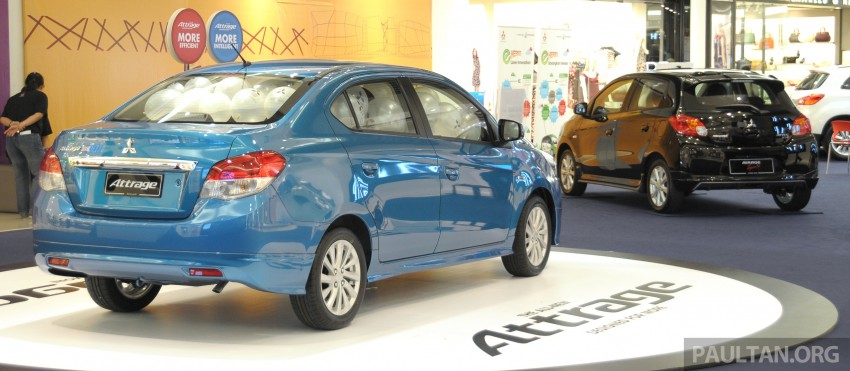 Mitsubishi Attrage – full Malaysian specs and prices Image #197421