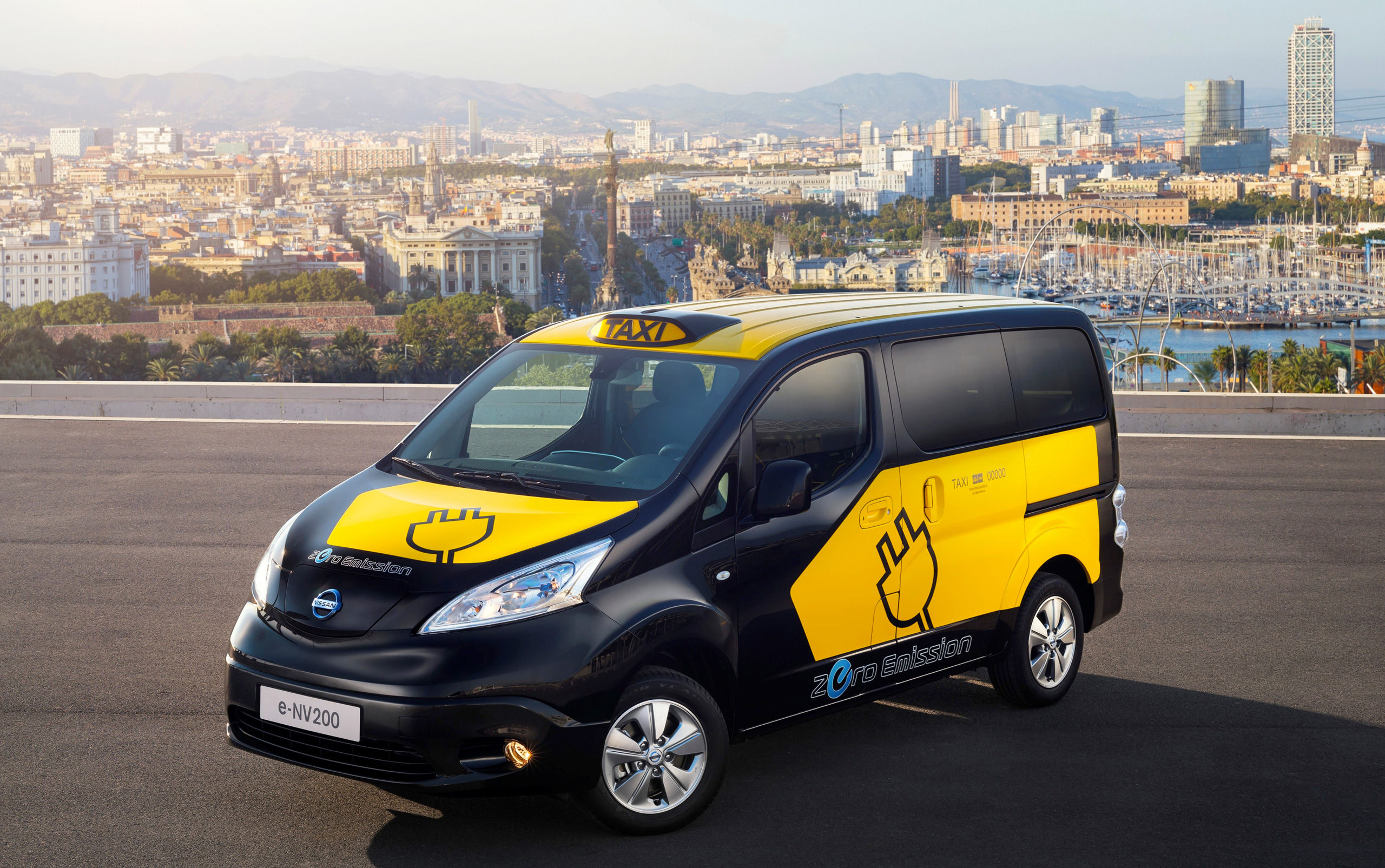 Barcelona to use nissan e nv200 electric taxi cabs - Cab in barcelona ...