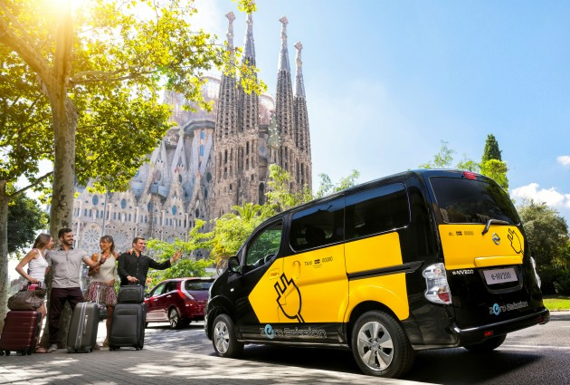 barcelona to use nissan e nv200 electric taxi cabs. Black Bedroom Furniture Sets. Home Design Ideas