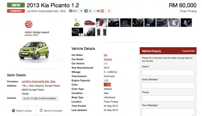 Kia Picanto previewed in Malaysia, launch next month Image #200582