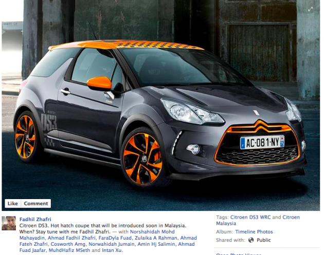 Citroen DS3 hot hatch coming to Malaysia this year