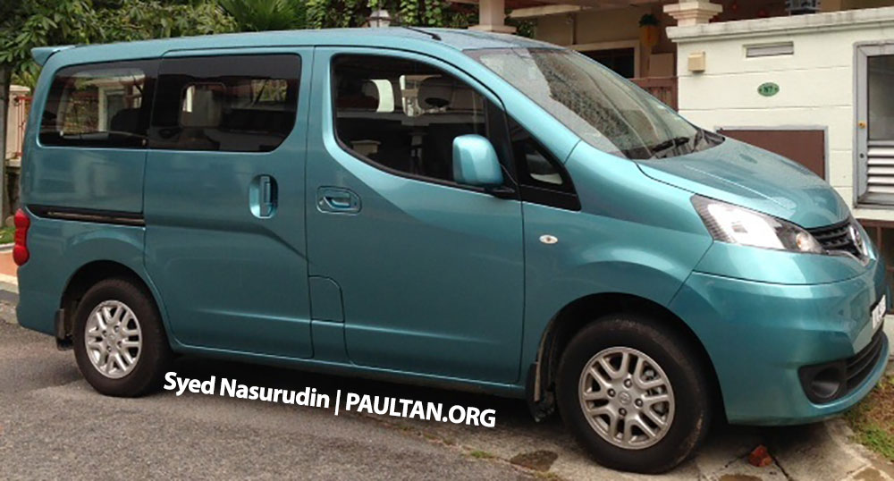 Nissan Nv Passenger Van >> Nissan Evalia spotted in Malaysia – NV200 seven-seater passenger window van being evaluated ...