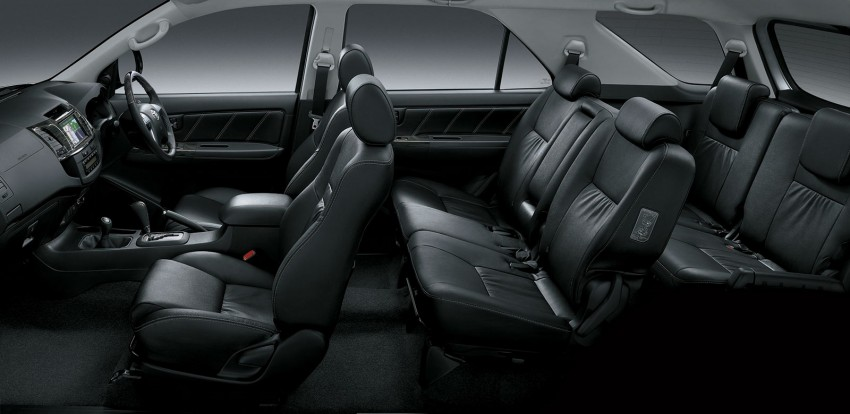 Toyota Fortuner updated: now with black cabin, Isofix Image #206793