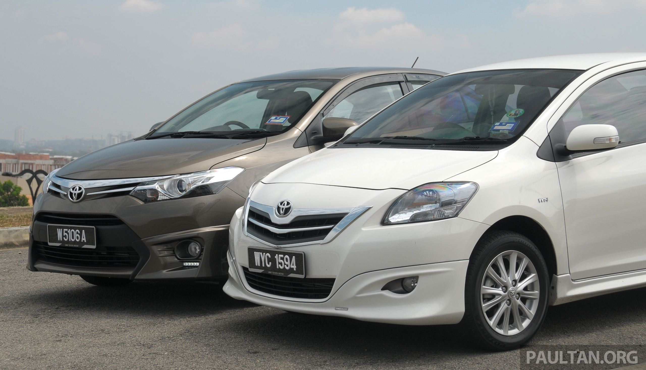 Gallery 2012 And 2013 Toyota Vios Side By Side Image 202928