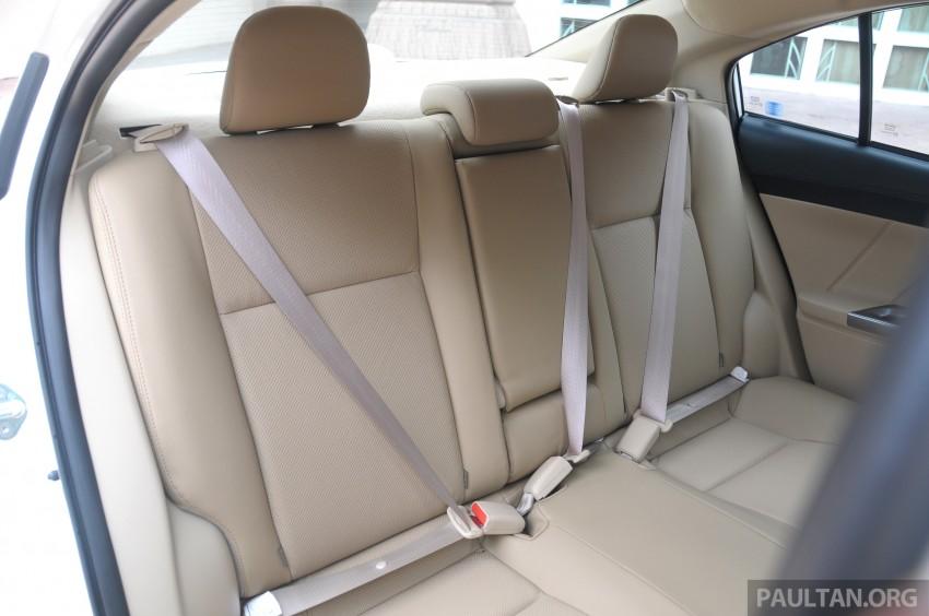 DRIVEN: 2013 Toyota Vios 1.5 G sampled in Putrajaya Image #202558