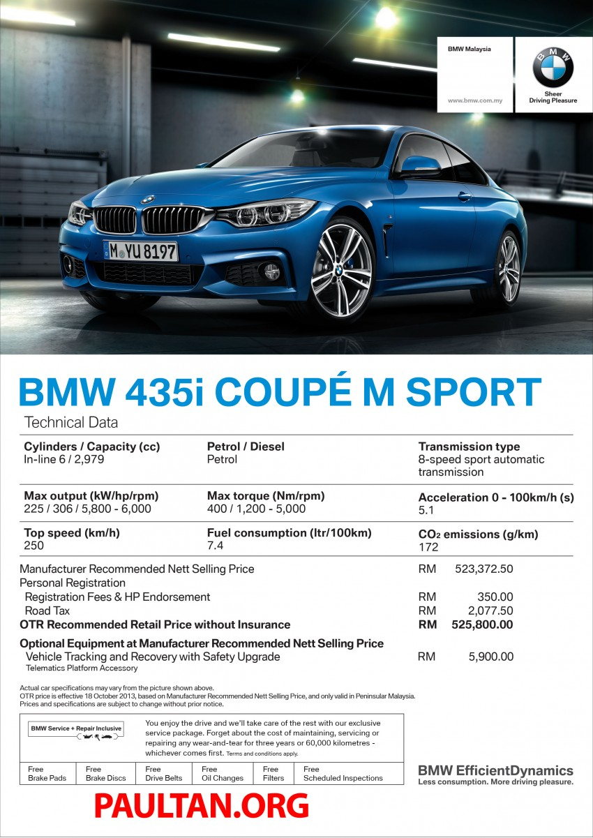 F32 BMW 4 Series launched – 3 variants, from RM359k Image #205377