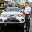 CEO of MMM Mr. Tetsuya Oda with Pajero Sport VGT