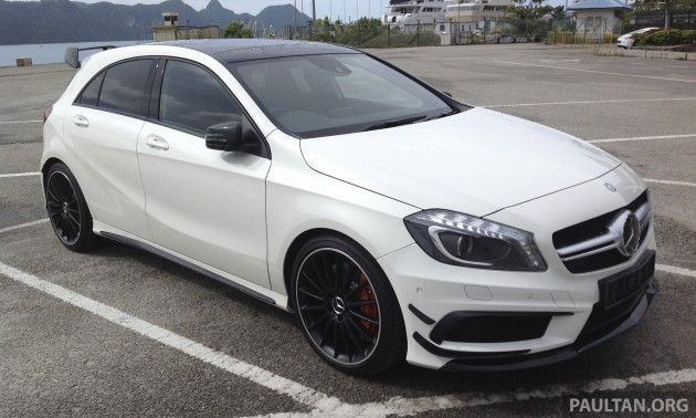 Spied mercedes benz a 45 amg in langkawi for Mercedes benz a45 amg for sale