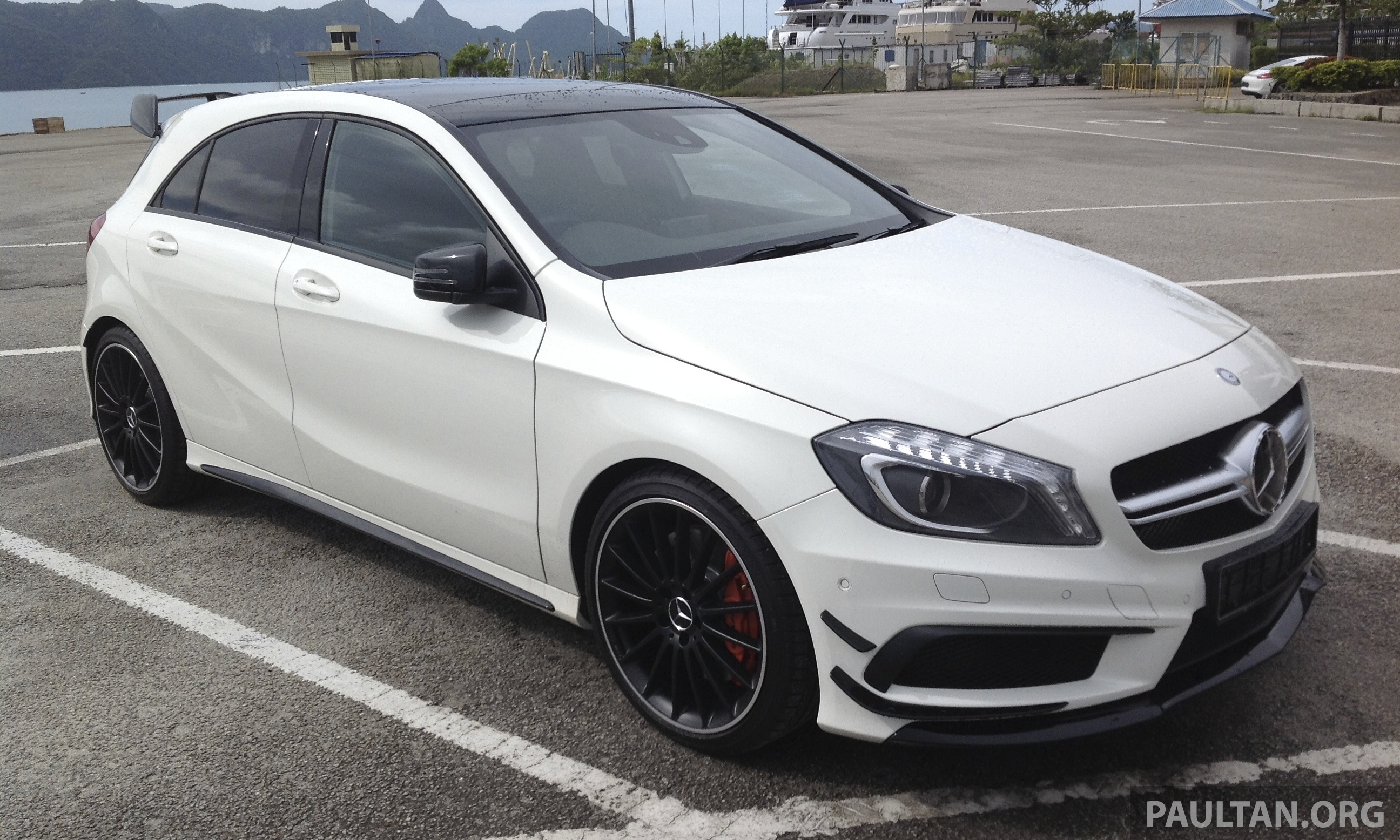 spied mercedes benz a 45 amg in langkawi image 203777. Black Bedroom Furniture Sets. Home Design Ideas