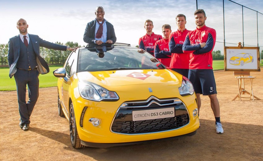 VIDEO: Arsenal stars stunned by magical DS3 Cabrio Image #204866