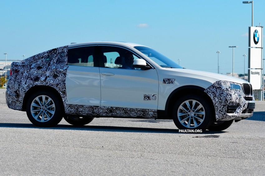 SPYSHOTS: BMW X4 interior revealed, similar to X3 Image #202114