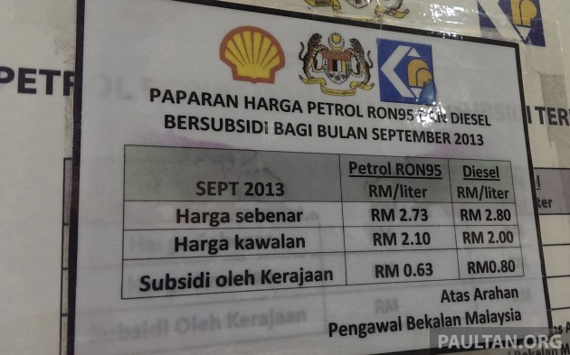 fuel price sept