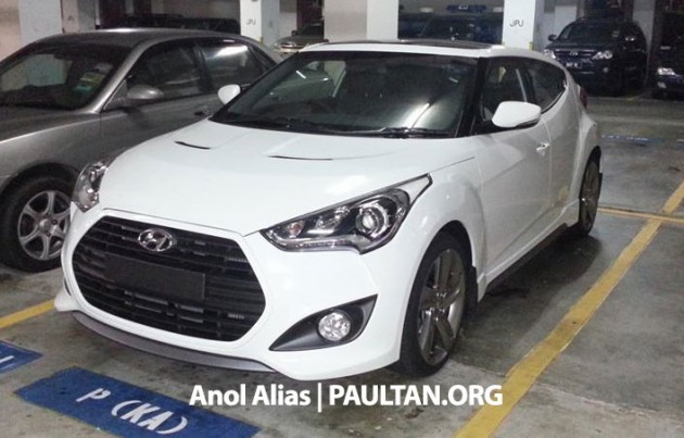 hyundai veloster turbo sighted at jpj could it appear at klims. Black Bedroom Furniture Sets. Home Design Ideas