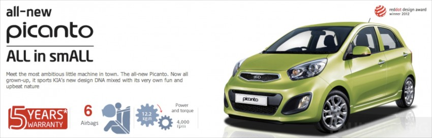 Kia Picanto Malaysian specs previewed on website Image #204672