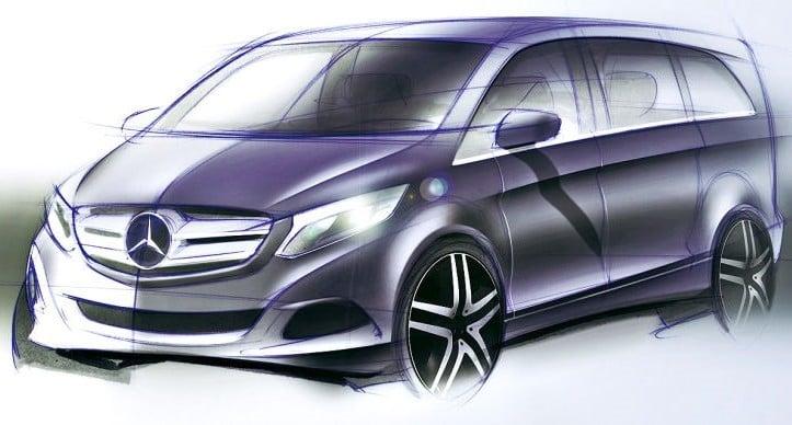 Mercedes-Benz V-Class (W447) interior revealed Image #205694