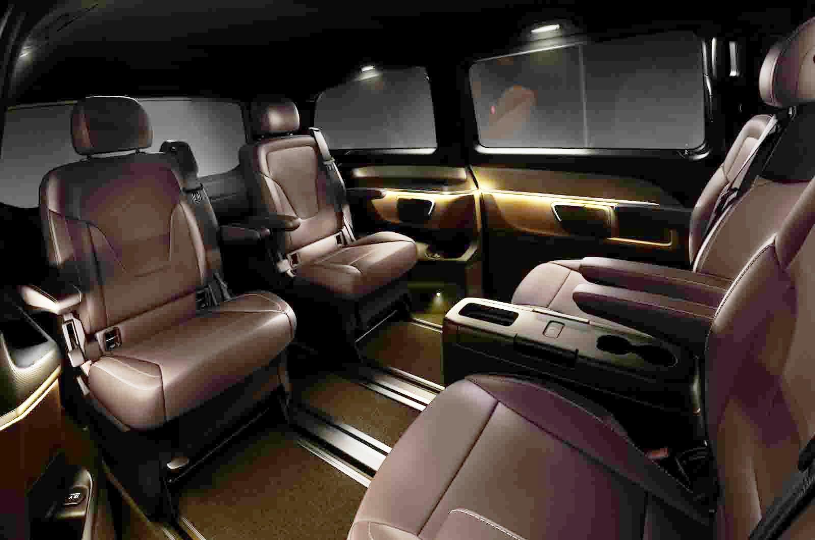 Mercedes v klasse interieur leder lugano schwarz for V class mercedes benz