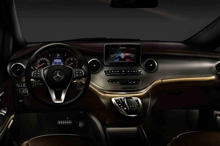 Mercedes-Benz V-Class (W447) interior revealed Image #205673