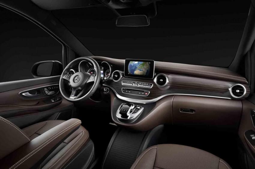 Mercedes-Benz V-Class (W447) interior revealed Image #205674