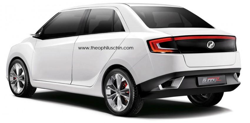 Perodua Buddyz sedan tweaked by Theophilus Chin Image #210205