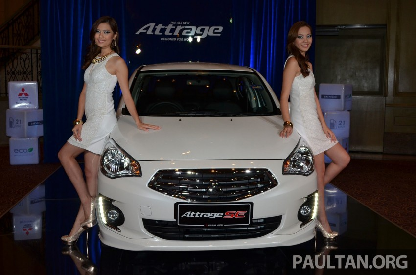 Mitsubishi Attrage launched in Malaysia, from RM59k Image #209079