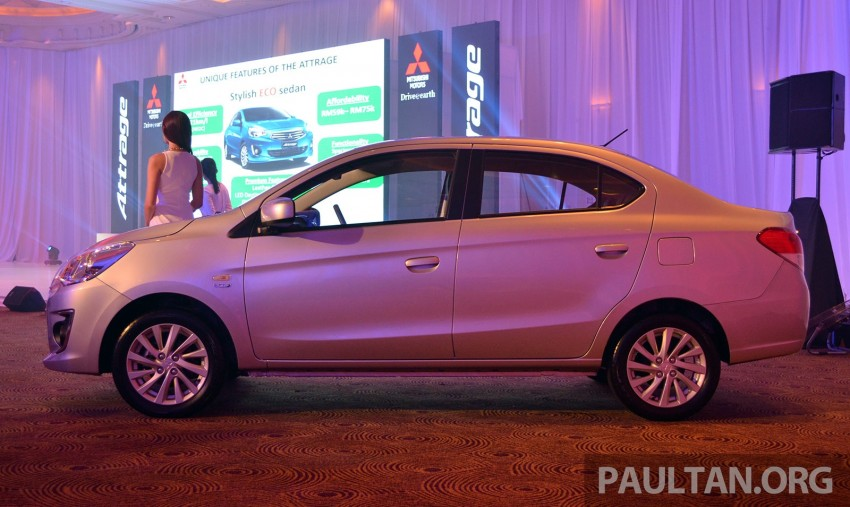 Mitsubishi Attrage launched in Malaysia, from RM59k Image #209083
