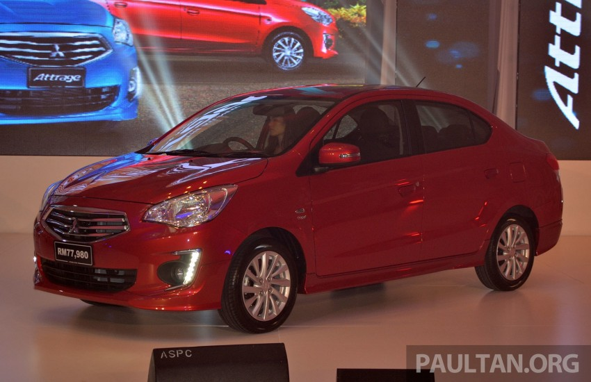 Mitsubishi Attrage launched in Malaysia, from RM59k Image #209088
