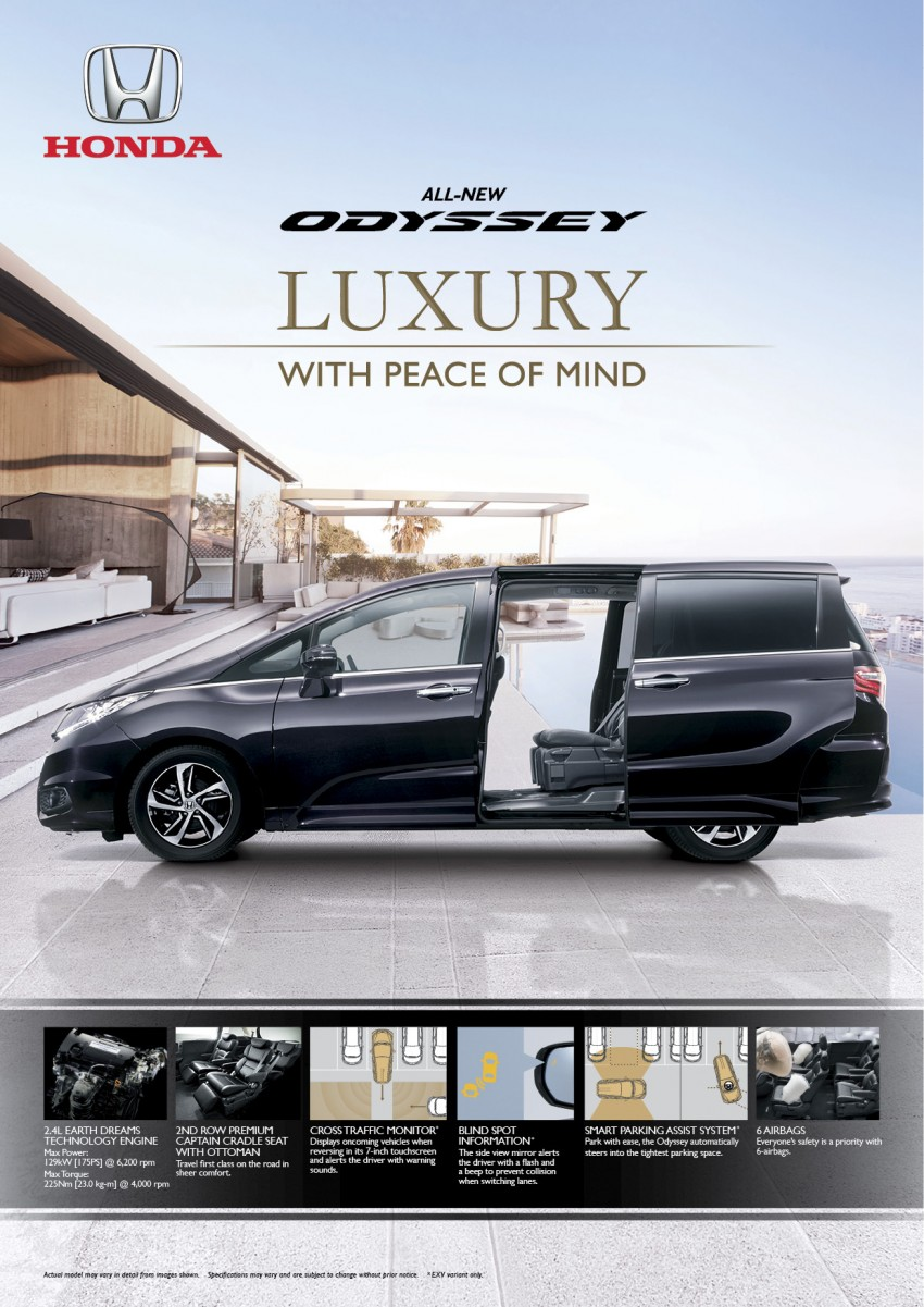 2013 Honda Odyssey launched – RM228k to RM248k Image #209728