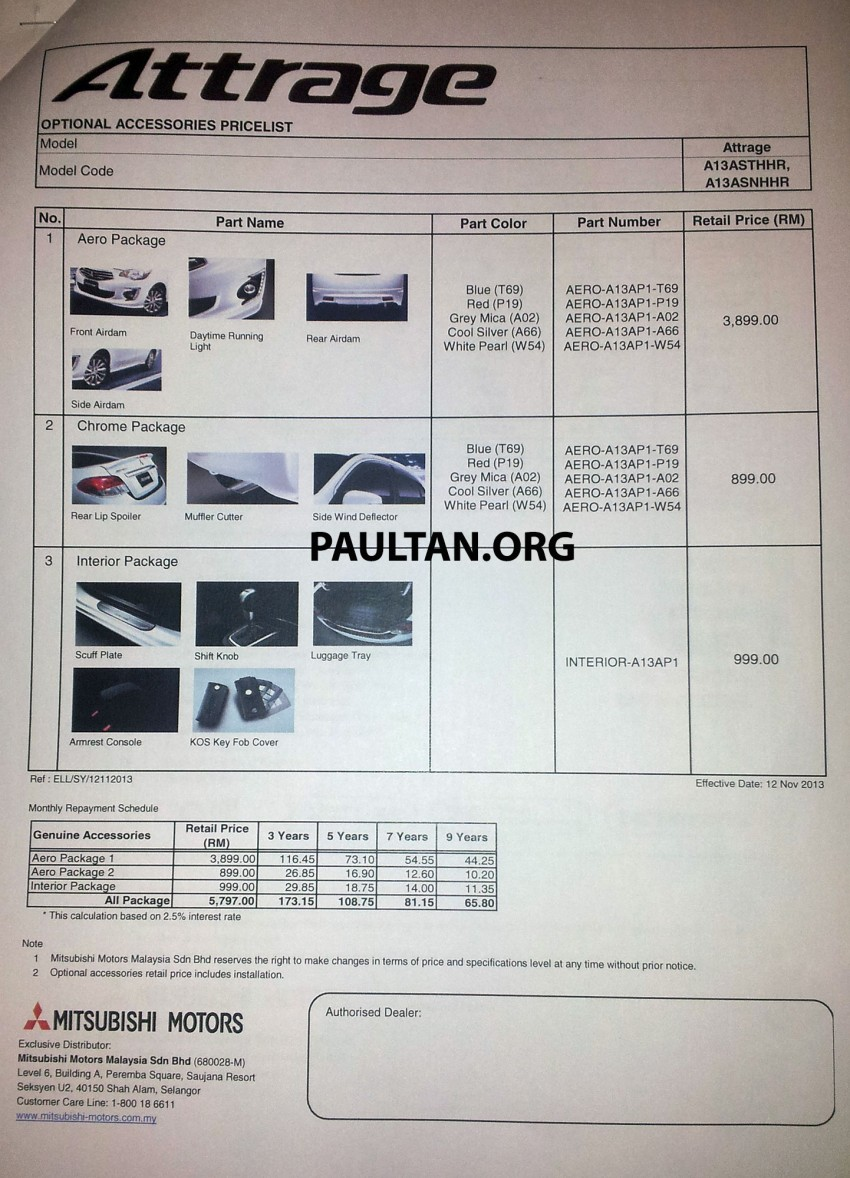 Mitsubishi Attrage launched in Malaysia, from RM59k Image #209125