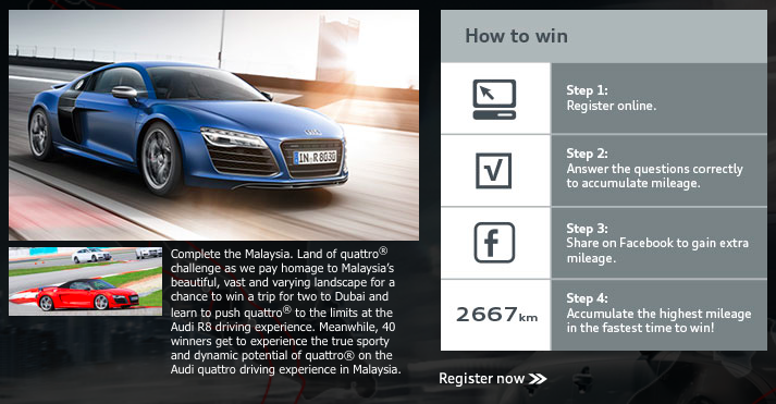 Join Audi S Malaysia Land Of Quattro Challenge To Drive