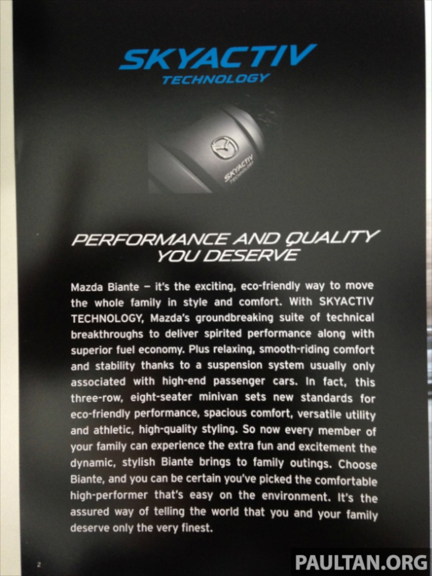 Mazda Biante 2.0 Skyactiv listed on oto.my – RM157k Image #207974