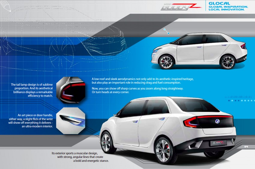 Perodua Buddyz concept sedan debuts at KLIMS13 Image #210067
