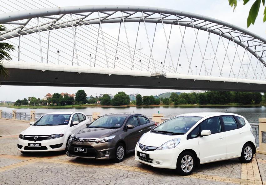 Driven Web Series Episode 1: The RM90k shootout – Toyota Vios vs Proton Suprima vs Honda Jazz Hybrid Image #211157