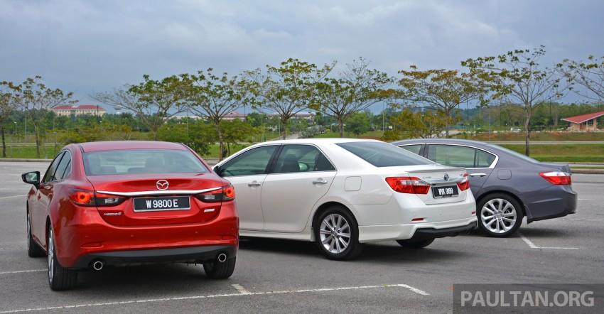 Driven Web Series Episode 5: Company car dilemma – Toyota Camry 2.5 vs Honda Accord 2.4 vs Mazda6 2.5 Image #217722