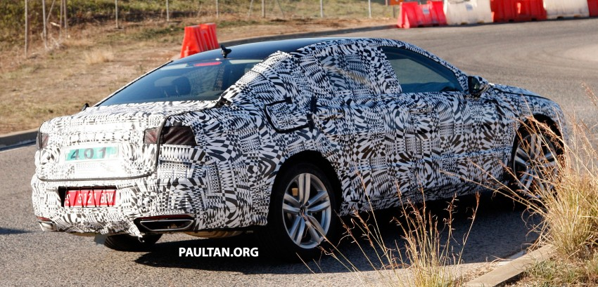 2015 Volkswagen Passat sighted again – integrated trapezoidal dual-exhaust tailpipes seen Image #215366