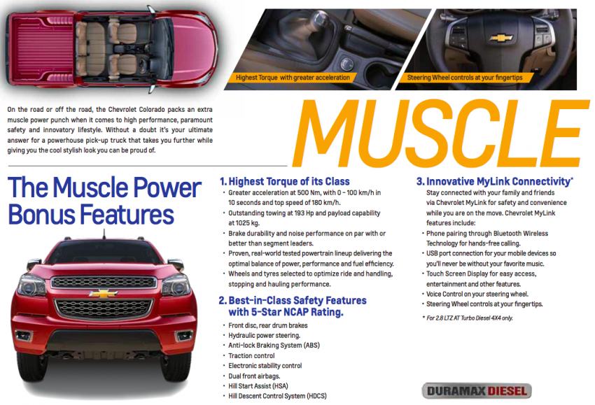 Chevrolet Colorado Muscle Edition going to Mid Valley roadshow – new Duramax engine, 6 M/T, MyLink Image #219218