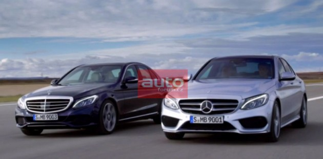 undisguised photos of the next generation 2014 w205 mercedes benz. Cars Review. Best American Auto & Cars Review