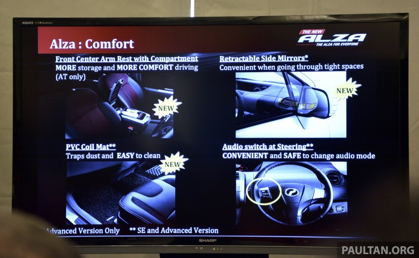 Perodua Alza facelift officially revealed, from RM52,400 Image #221470