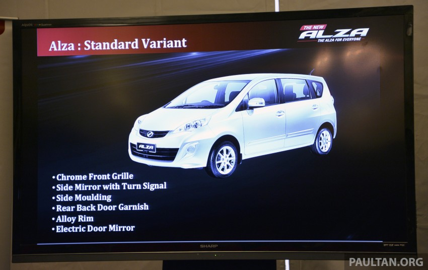 Perodua Alza facelift officially revealed, from RM52,400 Image #221480