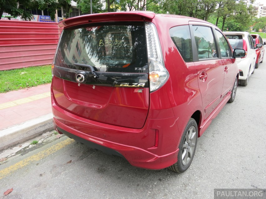 SPIED: 2014 Perodua Alza SE exposed before launch Image #221220