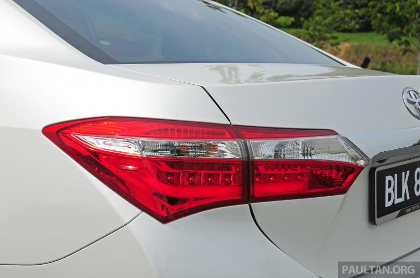 DRIVEN: 2014 Toyota Corolla Altis 2.0V on local roads Image #222495