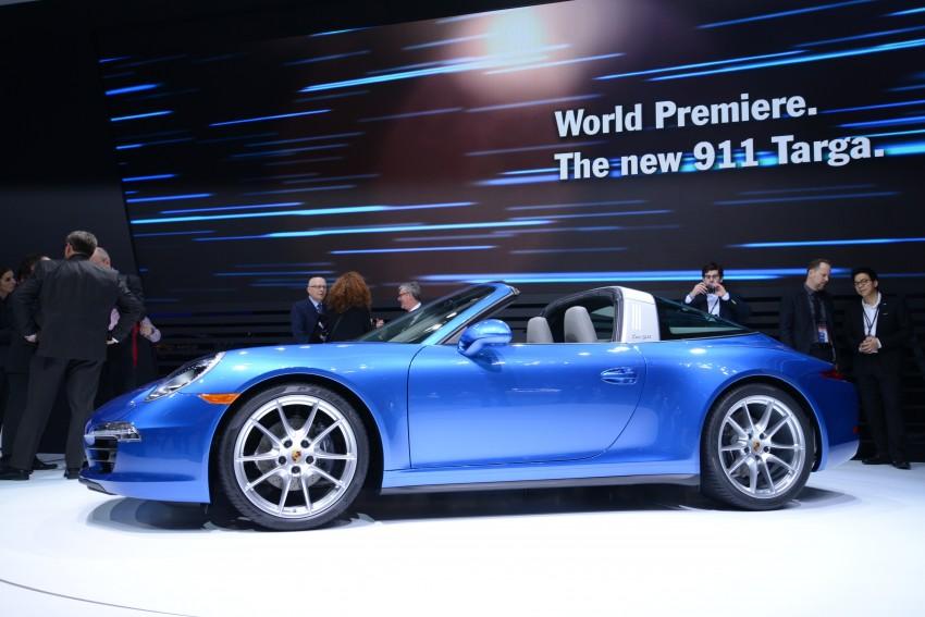 Porsche 911 Targa 4 and 4S (991) debut in Detroit Image #222234