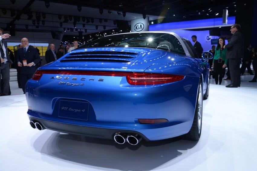 Porsche 911 Targa 4 and 4S (991) debut in Detroit Image #222236