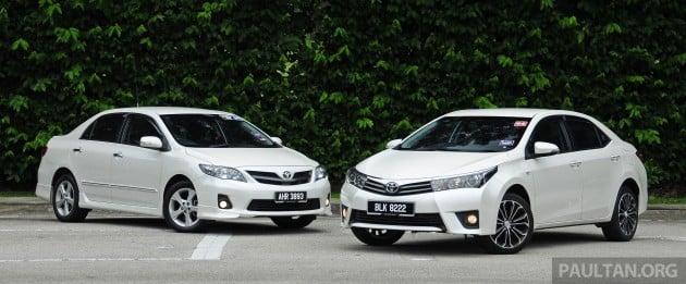 Old_new_2014_Toyota_Corolla_Altis_compared_ 001