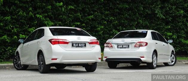 Old_new_2014_Toyota_Corolla_Altis_compared_ 003